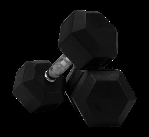 Fitribution Haltères Hexagonaux caoutchouc 9kg  (1 paire)