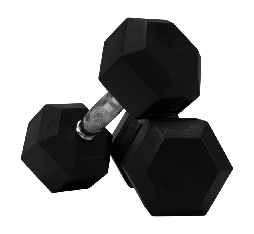 Conjunto De Mancuernas De Caucho Hexagonal De 3kg 1 Pares