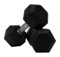 Hex rubber dumbbells 1kg (1 pair)