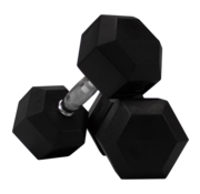Fitribution Hex rubber dumbbells 4kg (1 pair)