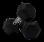 Hex rubber dumbbells 2kg (1 pair)
