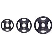 Fitribution Set 1,25/2,5/5kg schijf HQ rubber met handgrepen 50mm
