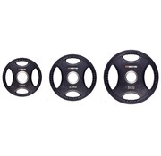 Fitribution Set 1,25/2,5/5kg weight plate HQ rubber with grips 50mm