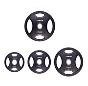 Fitribution Set 2,5/5/10/15kg weight plate HQ rubber with grips 50mm