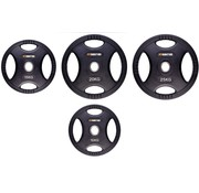 Fitribution Set 10/15/20/25kg weight plate HQ rubber with grips 50mm
