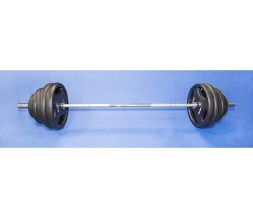 Fitribution Barre Olympique 220cm 50mm charge max 680kg avec disques