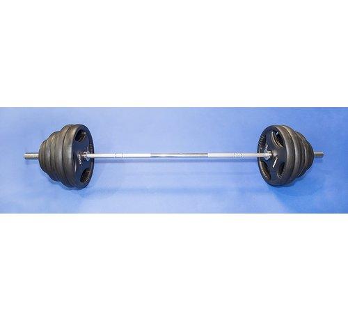 Fitribution Barra Olímpica 220cm 50mm Capacidad De Peso 680kg con discos