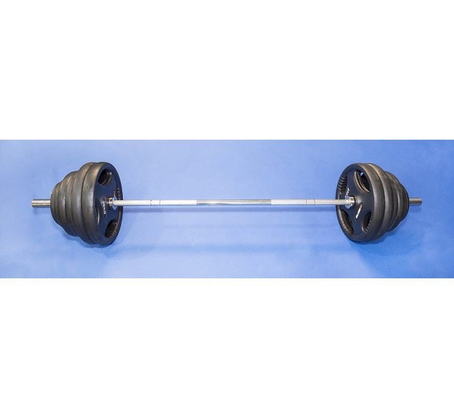 Olympic bar 220cm 50mm weight capacity 680kg with plates