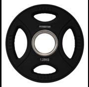 Fitribution Serie 10/15/20/25kg Disco De Peso Uretano Con Agarraderas 50mm