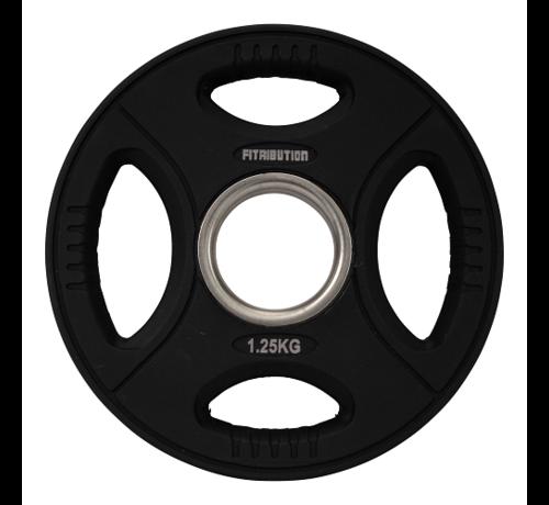Fitribution Série 1,25/2,5/5/10/15/20kg disque à poignées en uréthane 50mm