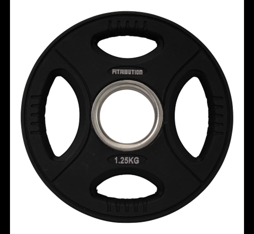 Serie1,25/ 2,5/5/10/15/20kg Disco De Peso Uretano Con Agarraderas 50mm