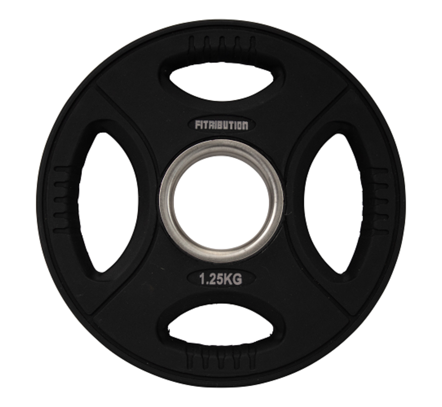 Set 1,25/2,5/5/10/15/20kg weight plate urethane with grips 50mm