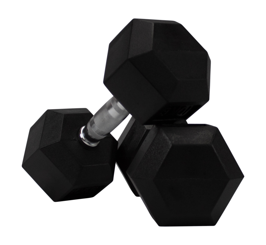 Hex rubber dumbbells 6kg (1 pair)