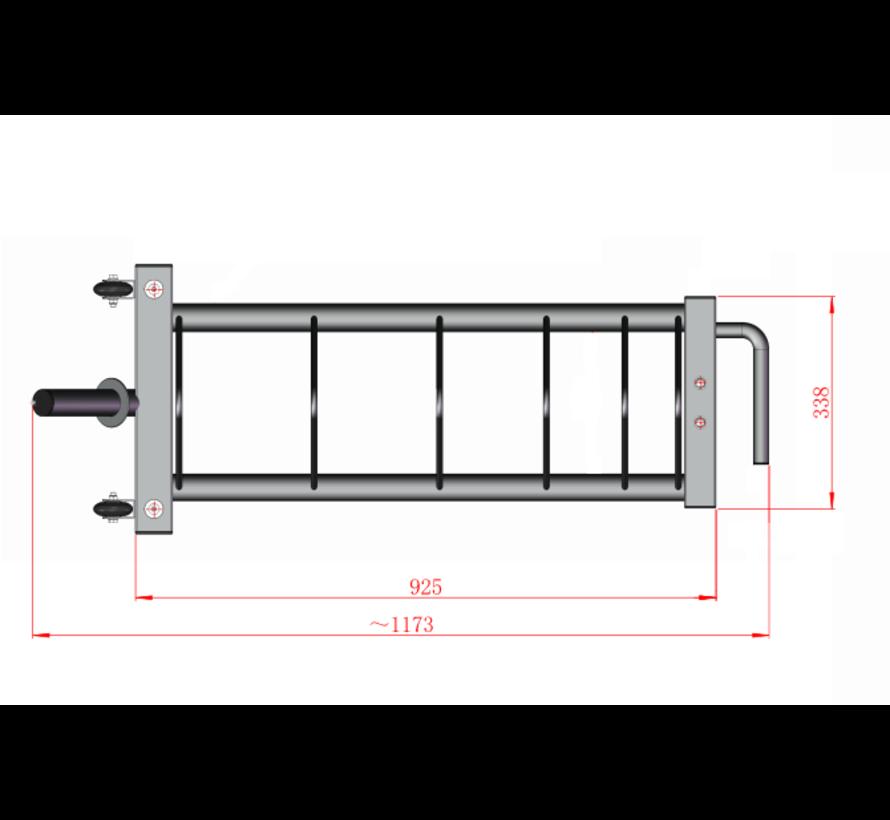 Horizontaal bumper plate rek