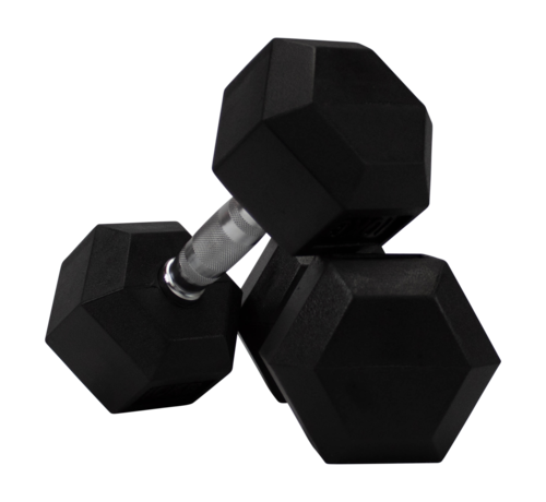 Fitribution Hex rubber dumbbells 10kg (1 paar)