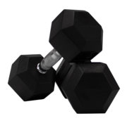 Fitribution Haltères Hexagonaux caoutchouc 7,5kg (1 paire)