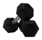 Hex rubber dumbbells 7,5kg (1 pair)
