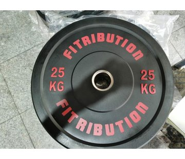 Fitribution 25kg bumper plate rubber 50mm