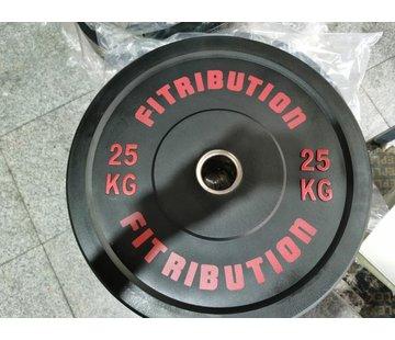 Fitribution 25kg disque bumper plate caoutchouc 50mm