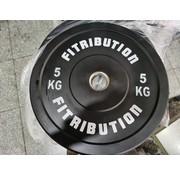 Fitribution 5kg disque bumper plate caoutchouc 50mm