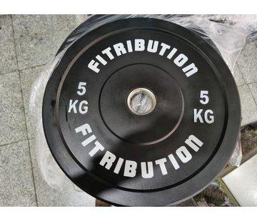 Fitribution 5kg schijf bumper plate rubber 50mm