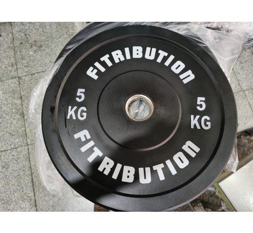 Fitribution 5kg bumper plate rubber 50mm