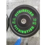 Fitribution 10kg disque bumper plate caoutchouc 50mm