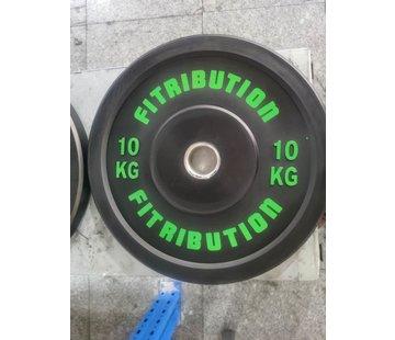 Fitribution 10kg schijf bumper plate rubber 50mm