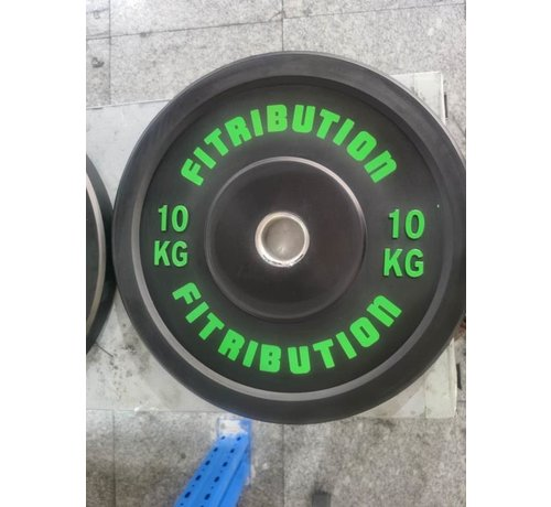 Fitribution 10kg bumper plate rubber 50mm