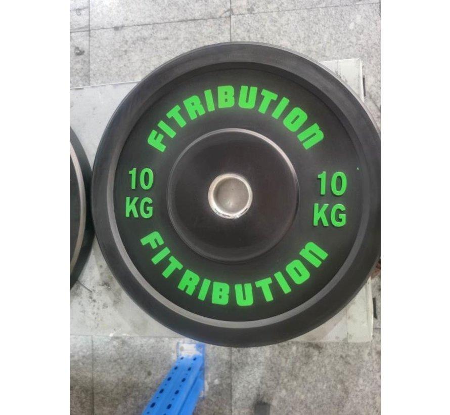 10kg disque bumper plate caoutchouc 50mm