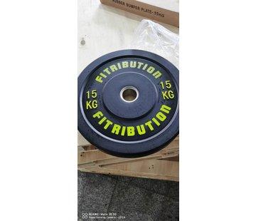Fitribution 15kg schijf bumper plate rubber 50mm