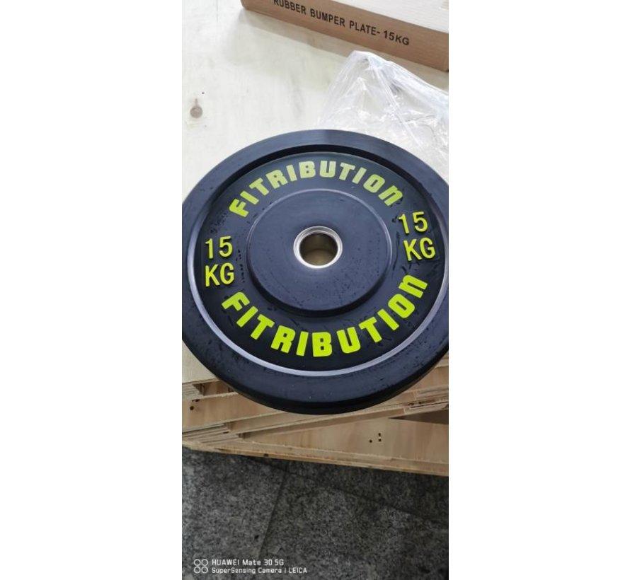 15kg disque bumper plate caoutchouc 50mm