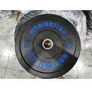 Fitribution 20kg schijf bumper plate rubber 50mm