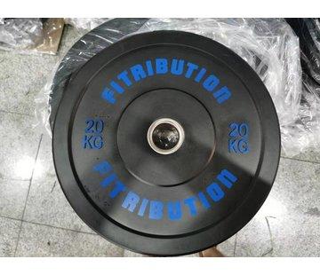 Fitribution 20kg Disco De Parachoques De Caucho 50mm