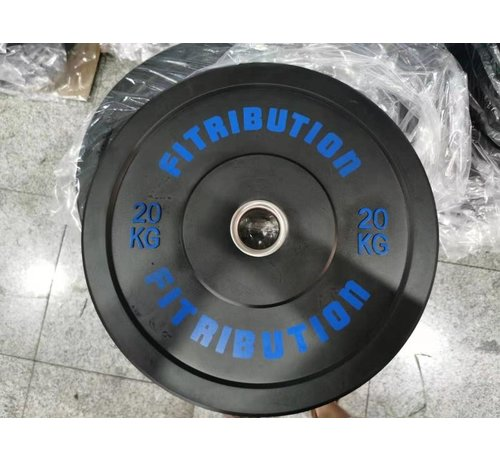 Fitribution 20kg bumper plate rubber 50mm