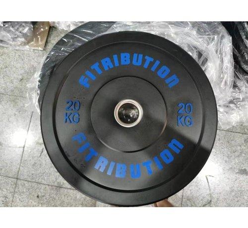 Fitribution 20kg disque bumper plate caoutchouc 50mm