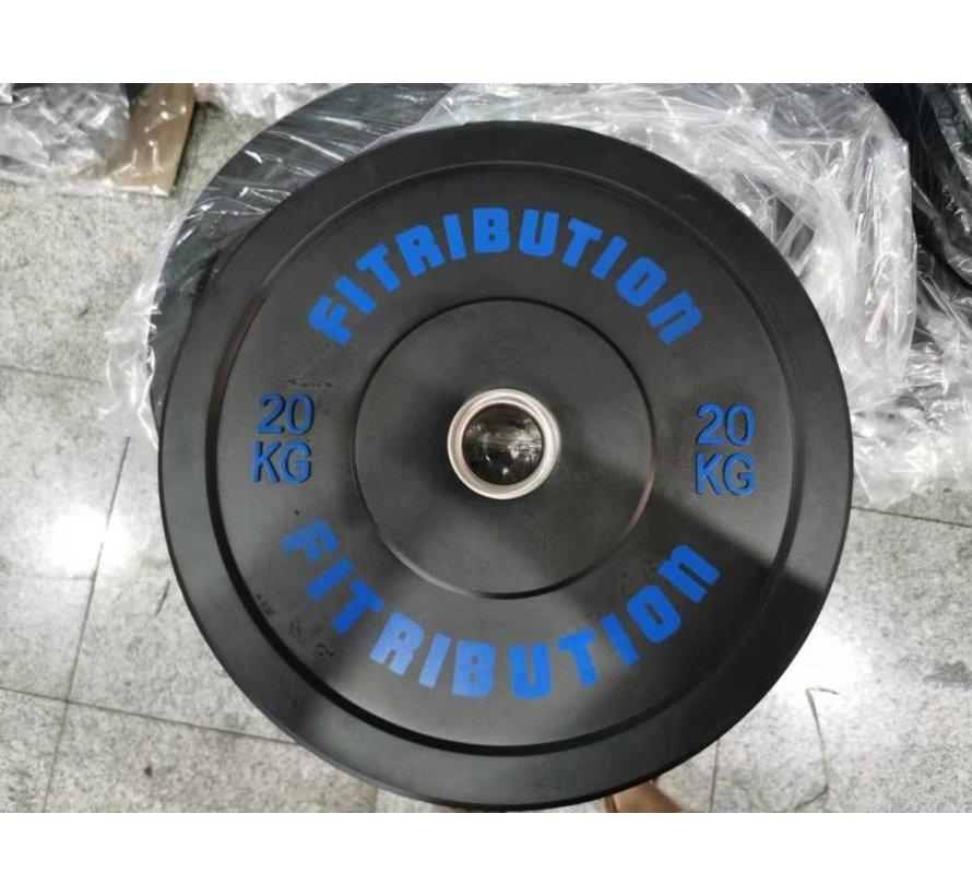 20kg disque bumper plate caoutchouc 50mm
