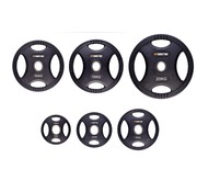 Fitribution Set 1,25/2,5/5/10/15/20kg schijf HQ rubber met handgrepen 50mm