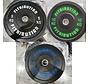 Série 5/10/20kg disque bumper plate caoutchouc 50mm