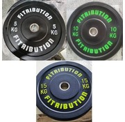 Fitribution Set 5/10/15kg bumper plate rubber 50mm