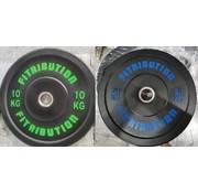 Fitribution Set 10/20kg bumper plate rubber 50mm