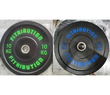 Fitribution Set 10/20kg schijf bumper plate rubber 50mm