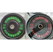 Fitribution Set 10/25kg schijf bumper plate rubber 50mm