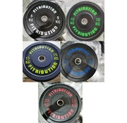 Fitribution Set 5/10/15/20/25kg bumper plate rubber 50mm