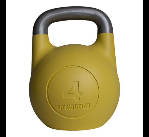 Fitribution 4kg holle aluminium competitie kettlebell  (hollow competition kettlebell)