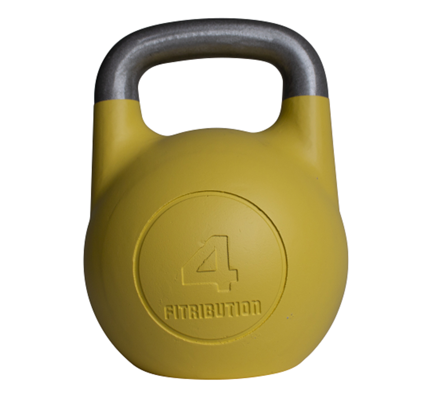 4kg holle aluminium competitie kettlebell  (hollow competition kettlebell)