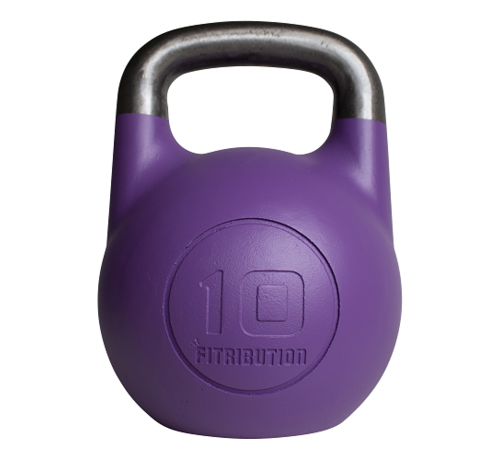 Fitribution 10kg holle stalen competitie kettlebell  (hollow competition kettlebell)