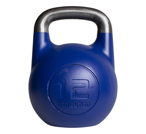 Fitribution 12kg holle stalen competitie kettlebell  (hollow competition kettlebell)