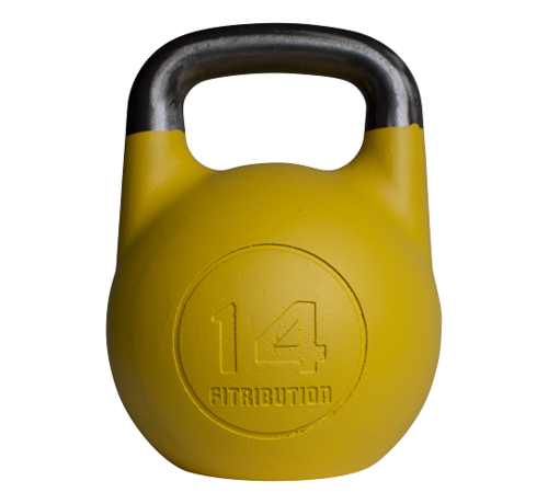 Fitribution 14kg holle stalen competitie kettlebell  (hollow competition kettlebell)