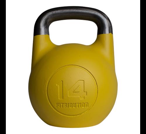 Fitribution 14kg kettlebell compétition creux (acier)